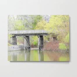 Soft Colours of Spring Reflected Metal Print