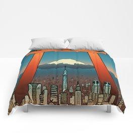 Tokyo Travel Poster Comforters