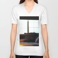 anxiety V-neck T-shirts featuring Anxiety by  St Greyson