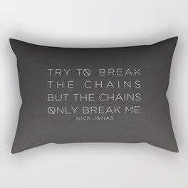 Nick Jonas Chains Lyrics Rectangular Pillow