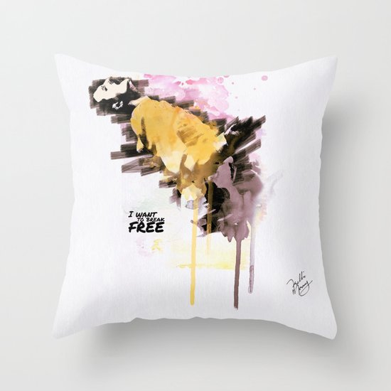 Mercury's live forever Throw Pillow