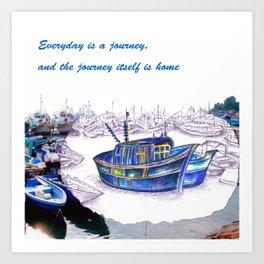 Boat Journey @HK's Cheung Chau Art Print