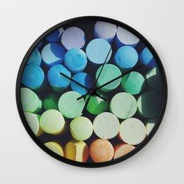 Shades of Rainbow Wall Clock