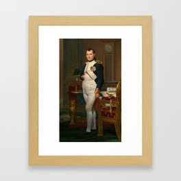 Emperor Napoleon in His Study at the Tuileries Framed Art Print