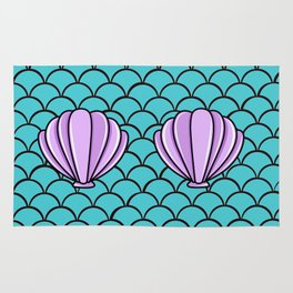 Scaly Mermaid Shell Top Rug