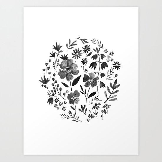 GARDEN GRAY Art Print
