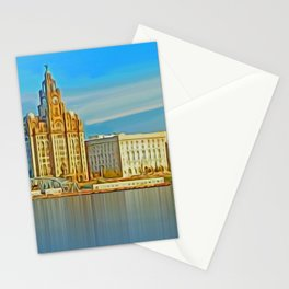 Water front Liverpool (Digital Art) Stationery Cards