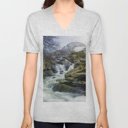 Snow Covered Tryfan Unisex V-Neck