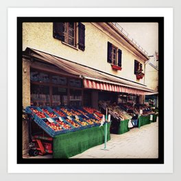 Obststandl - fruits and vegetables Art Print