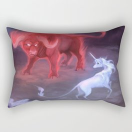 Unicorn and Bull Rectangular Pillow