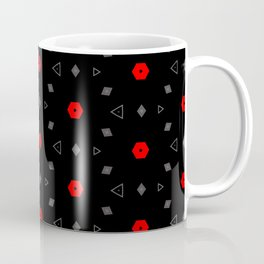 Red Grey Black Multi Pattern Coffee Mug