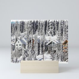 Winter Retreat - Mountain Resort Mini Art Print