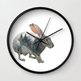 Hare Double Exposure Wall Clock