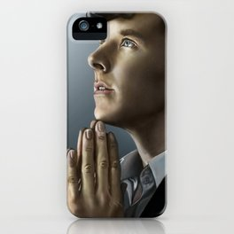 Sherlock in thought iPhone Case