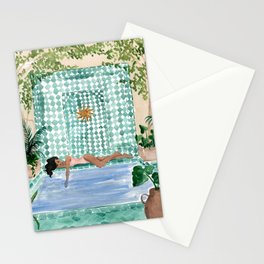 Poolside Siesta Stationery Cards