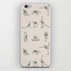 Skeleton Yoga iPhone & iPod Skin