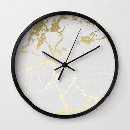 Kintsugi Ceramic Gold on Lunar Gray Wall Clock