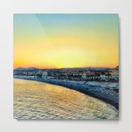 Sunset in Nice, France Metal Print