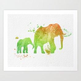 Elephants 020 Art Print