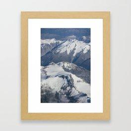 Long White Cloud Scape. Framed Art Print