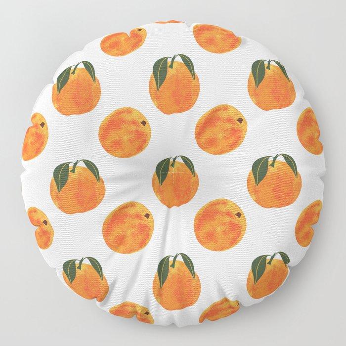 Peach Harvest Floor Pillow