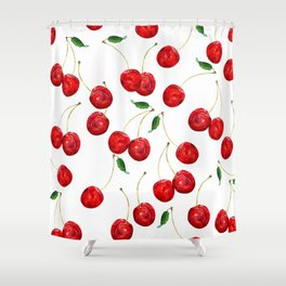 Cherry Picking my way through life Shower Curtain