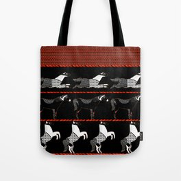Horses and Lines Tote Bag