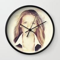 fringe Wall Clocks featuring FRINGE - OLIVIA by theseed30