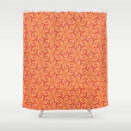 Burnt Orange Jazz Busy Red Clay Hexagon Country Southwestern Design Pattern Shower Curtain