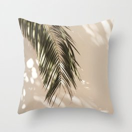 tropical palm leaves vi Throw Pillow