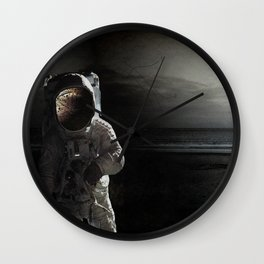 Sad story about a chimp in space Wall Clock