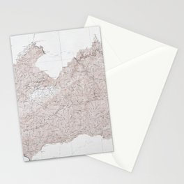 Vintage Smoky Mountains National Park Topography Map Stationery Cards