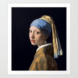 Johannes Vermeer - Girl with a Pearl Earring Art Print