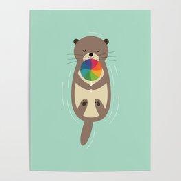 Sweet Otter Poster