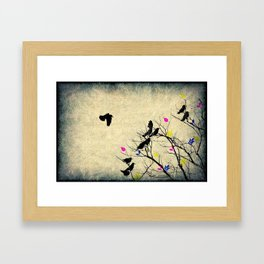 The crows Framed Art Print