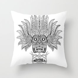 SRI LANKA DEVIL 'RAAKSHA / YAKA' MASK Throw Pillow