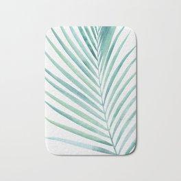 Twin Palm Fronds - Teal Bath Mat
