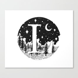 Midnight L Canvas Print