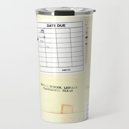 Library Book Date Due Card Travel Mug