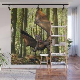 Edwin Dragon - snack time Wall Mural