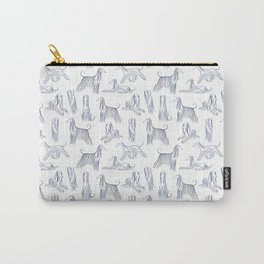 Afghan Hounds Pattern Carry-All Pouch
