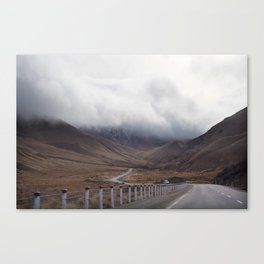 Roadtripping around New Zealand's South Island, Under a Thick Layer of Cloud Canvas Print
