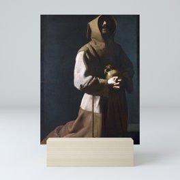 Saint Francis in Meditation (de Zurbaran 1635) Mini Art Print