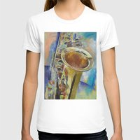 saxophone T-shirts featuring Saxophone by Michael Creese