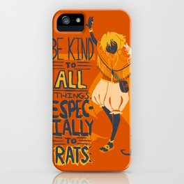 Ozymandias, King of Rats - Be Kind iPhone Case