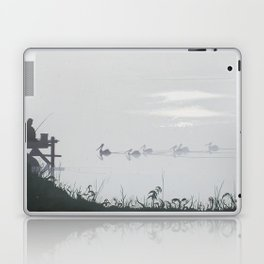 Misty Morning on the Clarence (1994) Laptop & iPad Skin