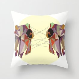 Youngbird Skulls Throw Pillow