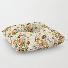 Butterfly Bouquet on Raw Silk Floor Pillow