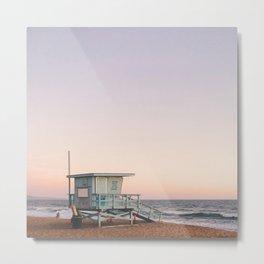 Lifeguard House, Manhattan Beach Metal Print