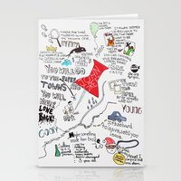 paper towns Stationery Cards featuring Paper towns, John Green by Natasha Ramon